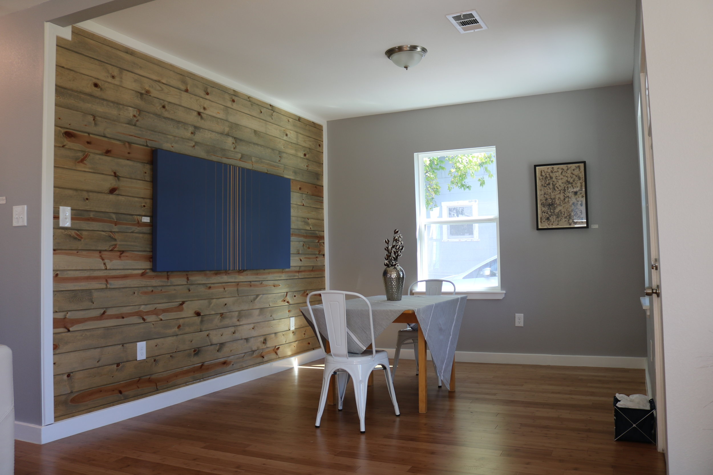 Tonal Blue in dining room