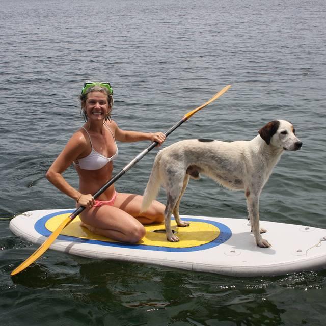 Brittany and Capitan in Bocas del Toro, Panama