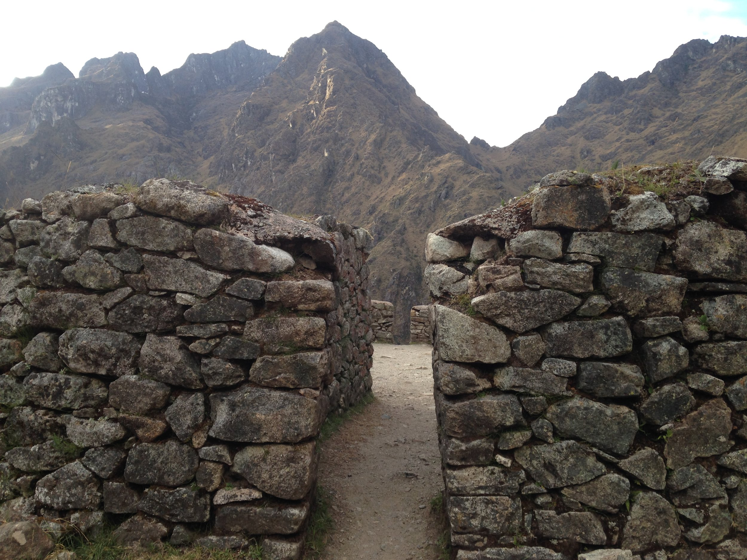 Runcuracay ruins along the Inca Trail on Day three of our hike