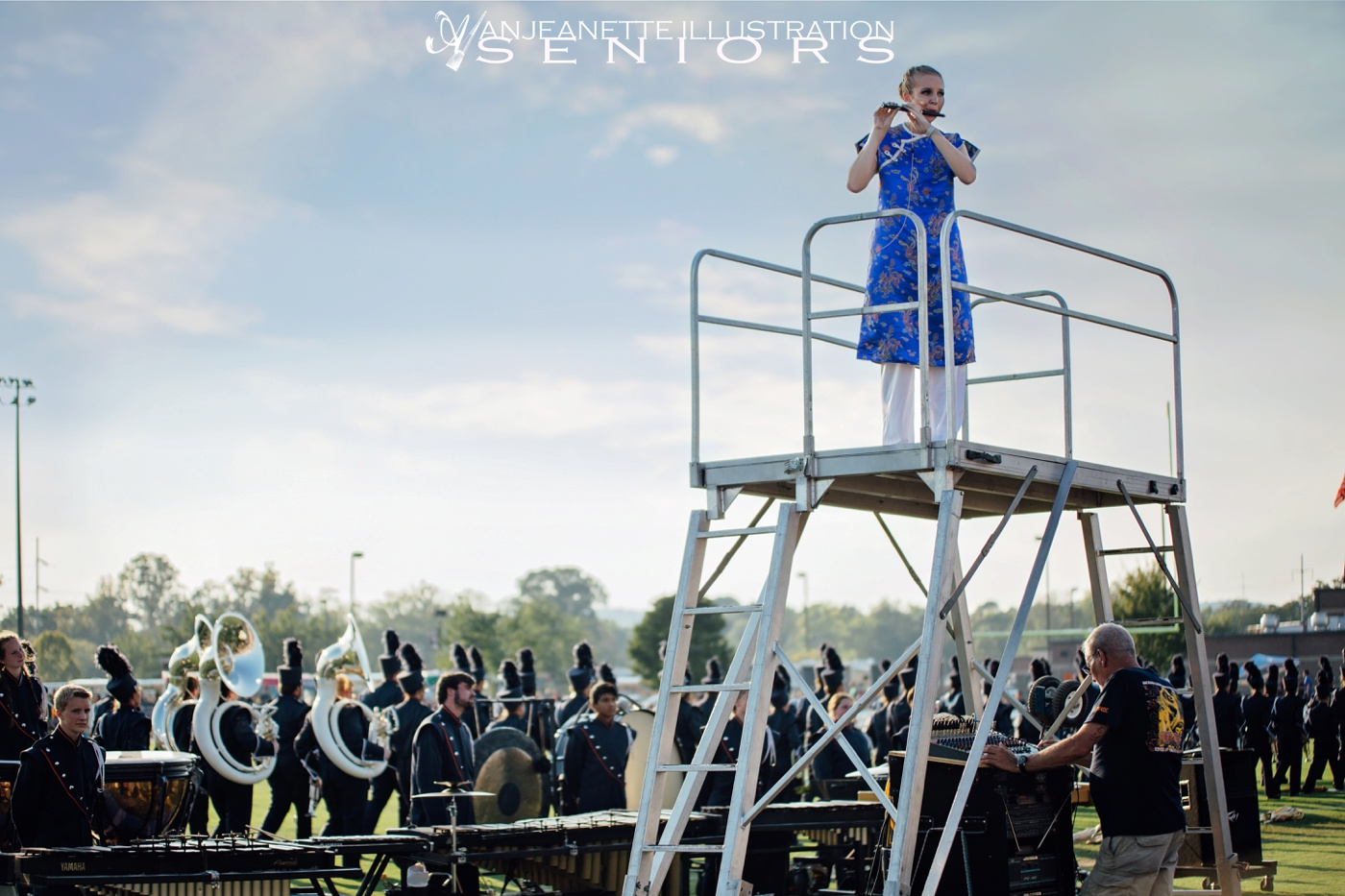 Hendersonville, Tennessee marching band news Anjeanette Illustration Seniors Photography specializes in unique artistic Senior Portraits