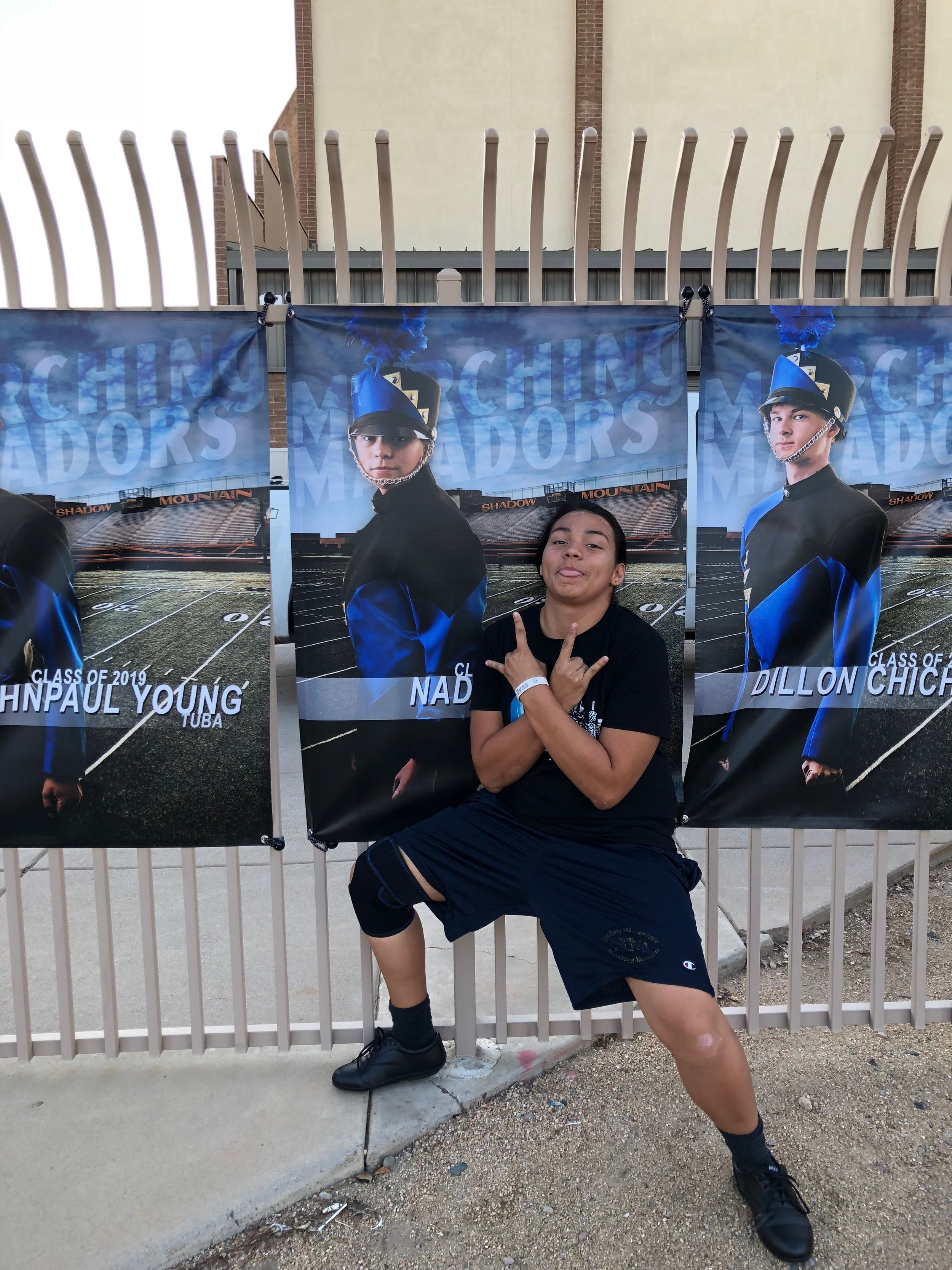 Nadia was happy with senior banner! Yay! I really want the band to have fun, feel appreciated, and enjoy the individual and group photography session.  They work hard and they deserve it!!!!