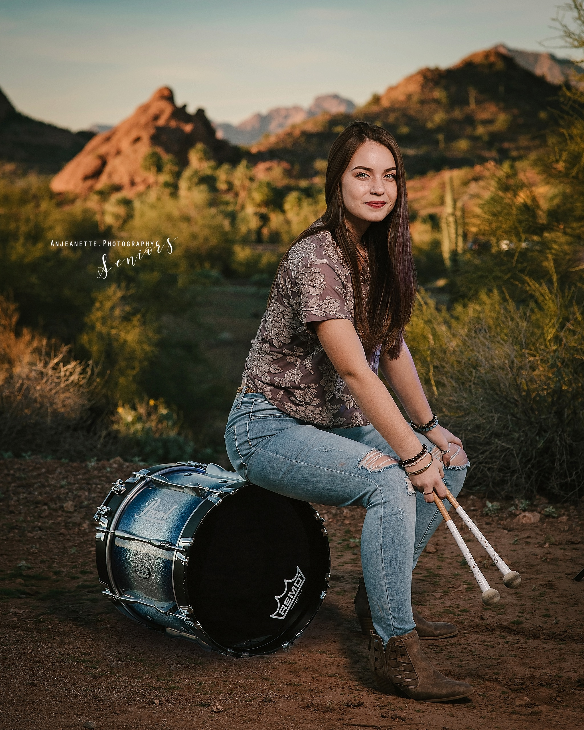 Places to take senior pictures Az senior grad pictures by Anthem scottsdale high school portraits, families, & Headshot photographer Anjeanette Photography Phx Arizona desert botanical garden DBGPHX