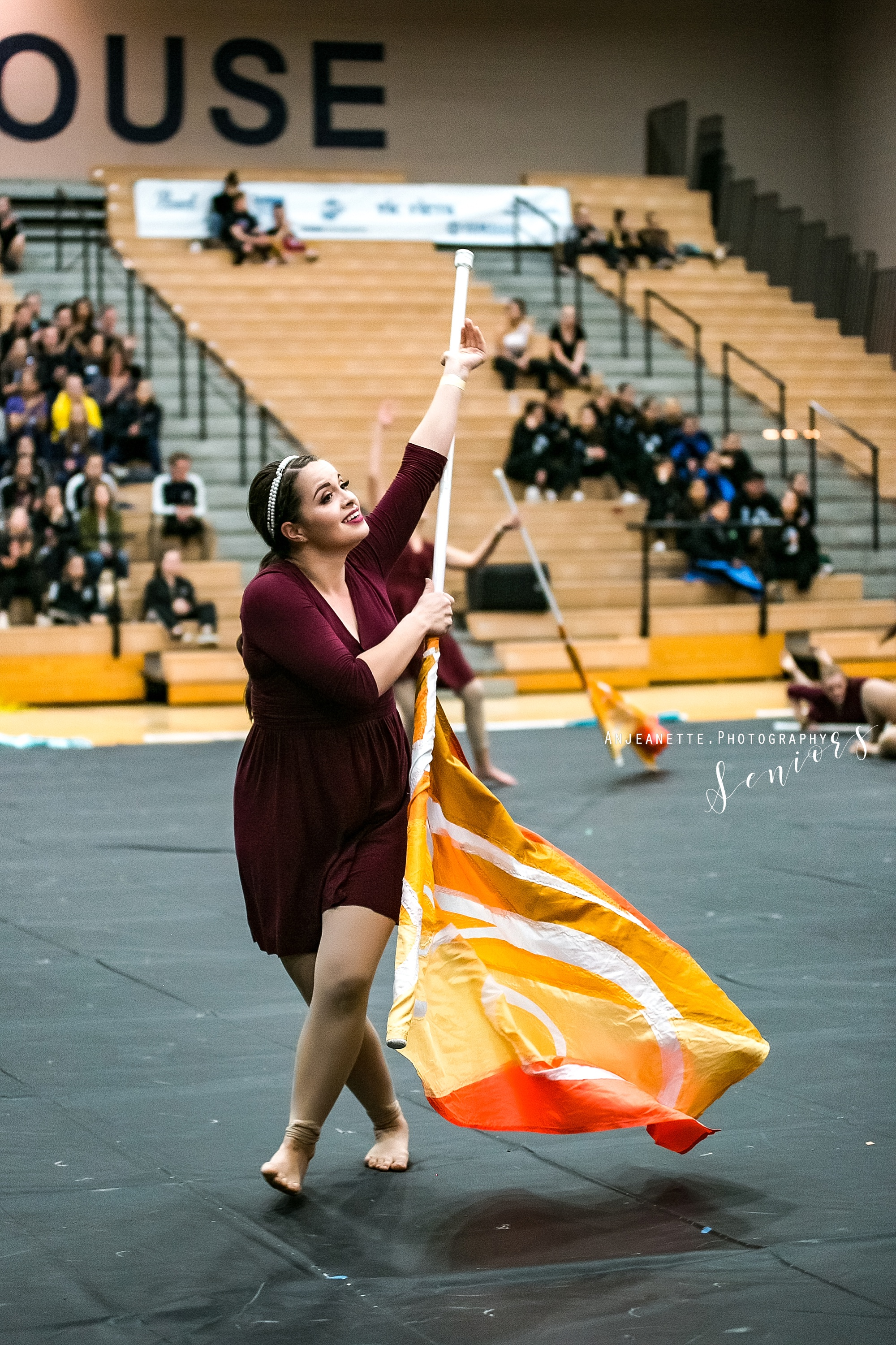 Arizona marching band color guard Peoria Az winterguard DCI drum corps WGI ABODA WGAZ senior grad pictures by Anthem Az high school portrait photographer Anjeanette Photography Phoenix Fenix