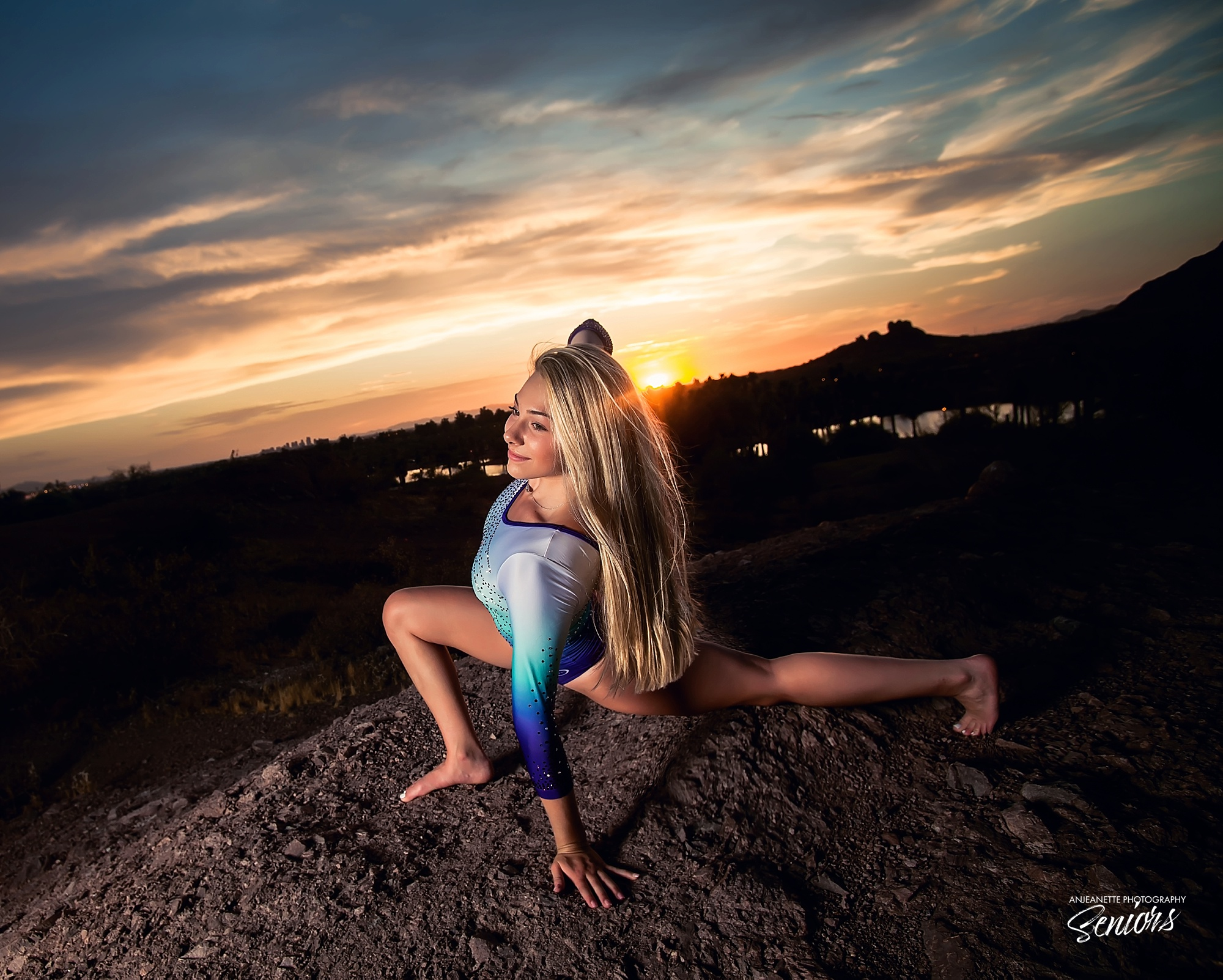 best Places Phoenix az gymnastic dance pictures near me senior graduation pictures Sandra Day O'Connor High School Peoria arizona Anthem high school portraits grad photographer Anjeanette Photography