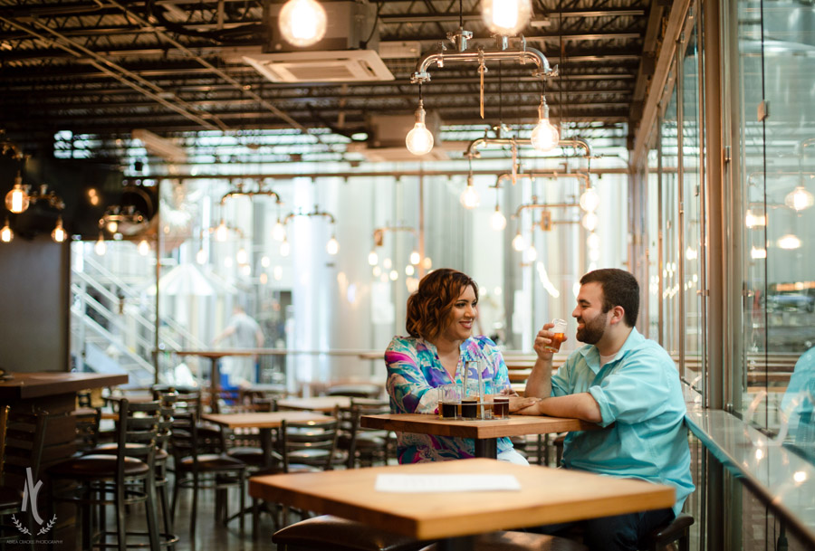 Engagement session at Blackstone Brewery in Nashville Tennessee