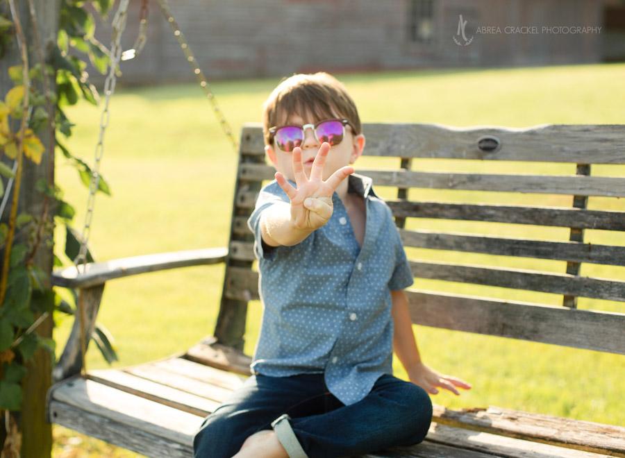 Four-year-old birthday photos for little boy