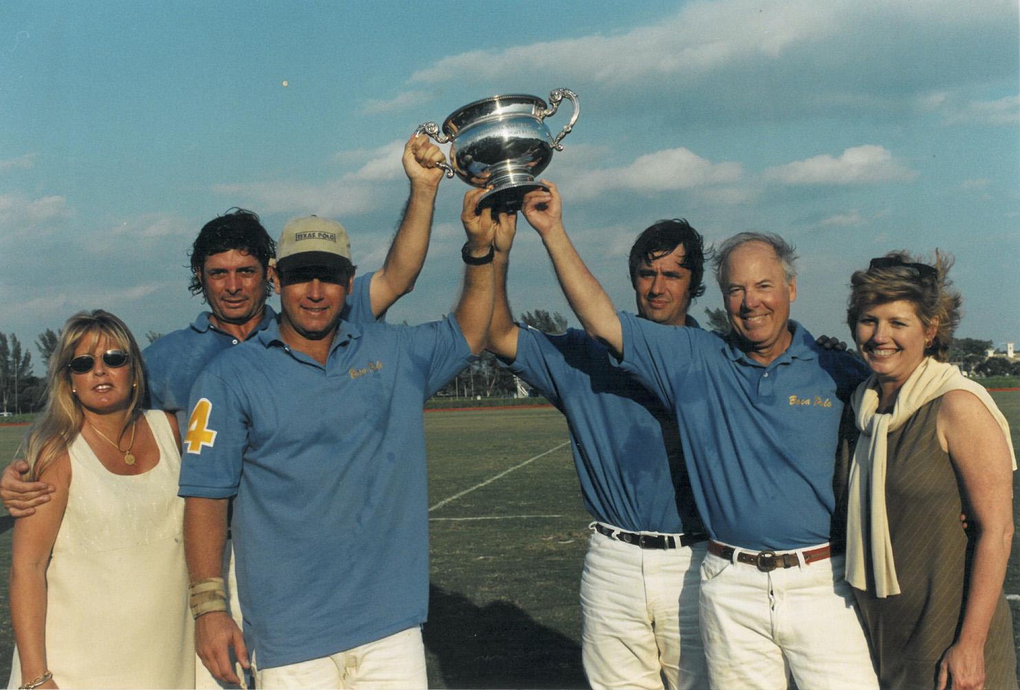 Juan Bollini, Lorraine & Joey Casey, Juan Badiola and Jack & Debby Oxley – Winners of the 1999 Sunshine league