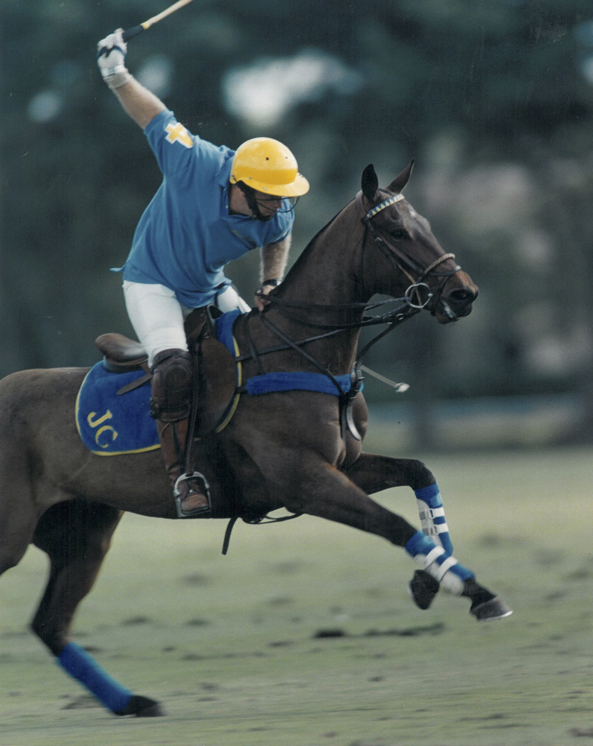 Joey riding Fendi