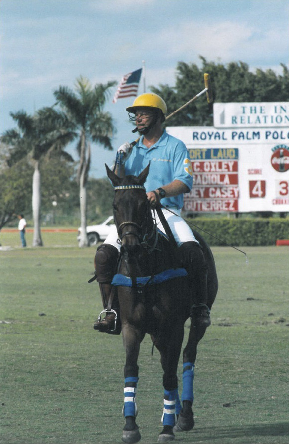 Joey riding Pandora in Hartman league