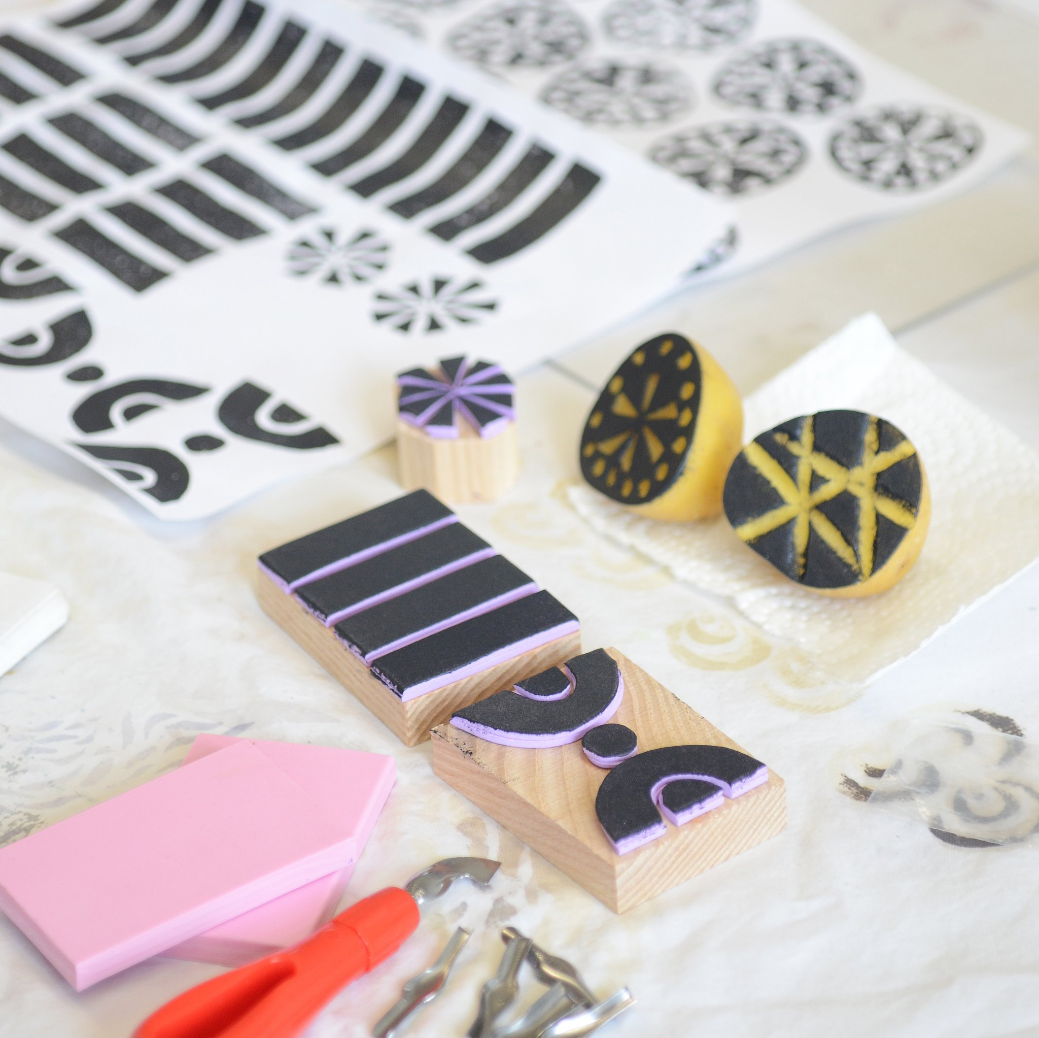 AFTERNOON WORKSHOP: Surface Design Through Block-Printing - Saturday, March 28, 2020 | 1 - 5pm, $125Natalie Gerber Studio & WorkshopscSPACE King Edward, 205 1721 - 29 Ave SWNatalieGerber.caCreate and print your own designs with me, an artist and surface designer. In this class you'll explore multiple block-printing techniques to create your own patterns on fabric and paper. You will use potatoes, rubber and foam to create your own unique stamps. This workshop appeals to beginner and experienced designers with a focus on low-tech processes that you can continue experimenting with at home. Take home your custom-printed stationary, tote bag and your handmade stamps.photo credit: Natalie Gerber