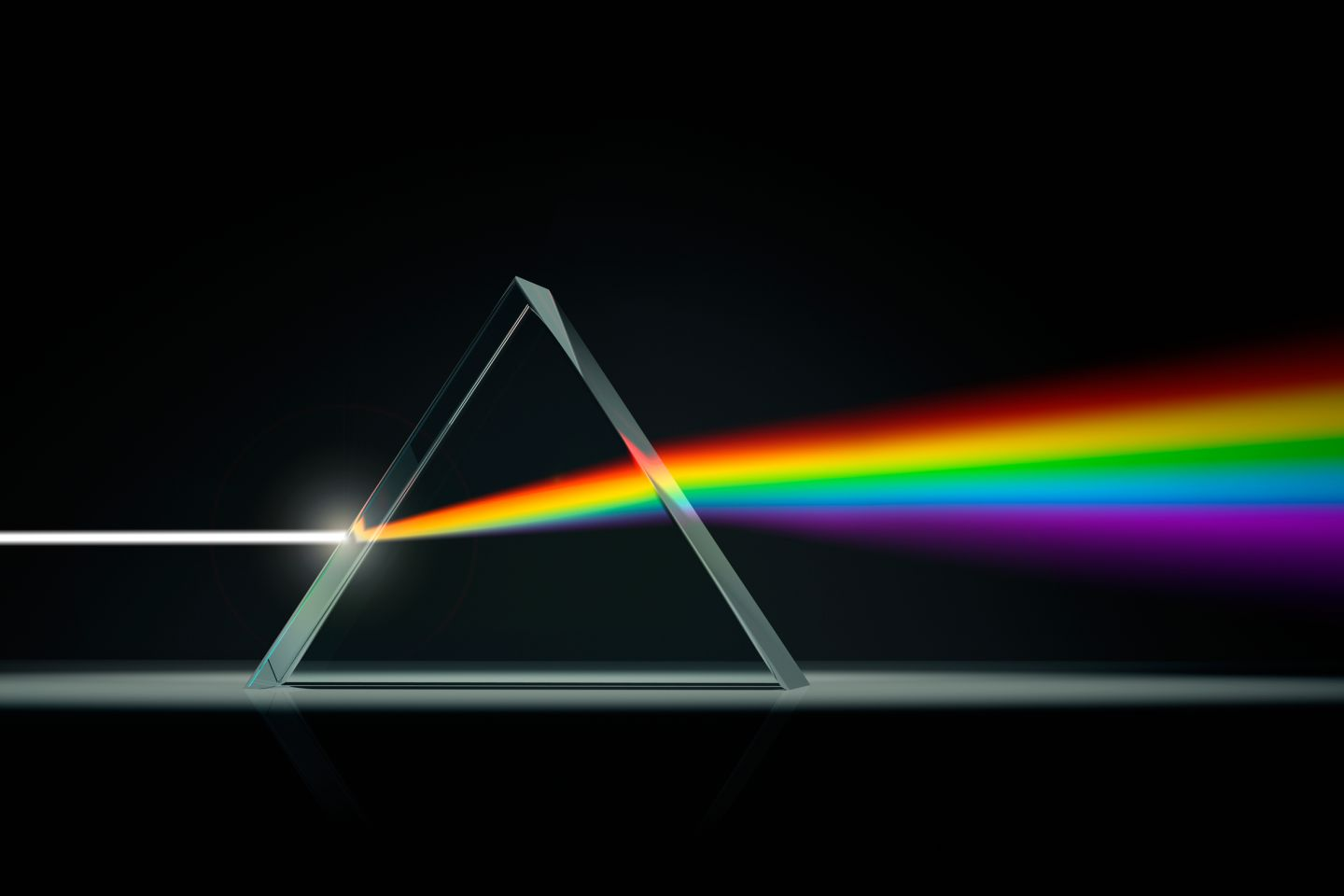 Caption: This is why rainbows appear! Raindrops act like mini-prisms and splits the sunlight into different colors!http://www.dkfindout.com/us/science/light/splitting-light