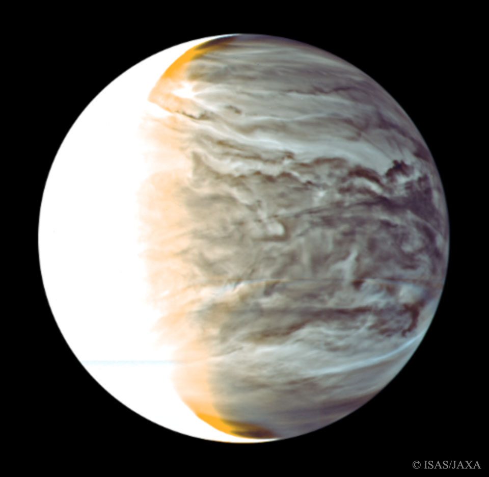 Night on Venus in Infrared from Orbiting Akatsuki. Image credit: APOD June 7