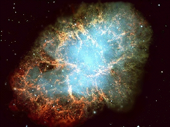 The Crab Nebula, which is a supernova remnant, has a pulsar for a heart and pulses at about 30 times per second! Image credit:http://www.atnf.csiro.au
