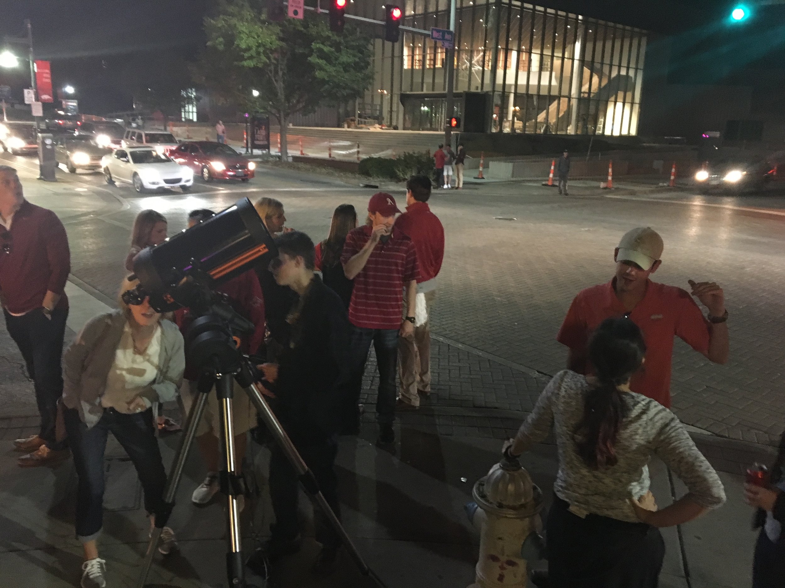 During the evening we had nearly 1,000 people stop and look through the telescopes.