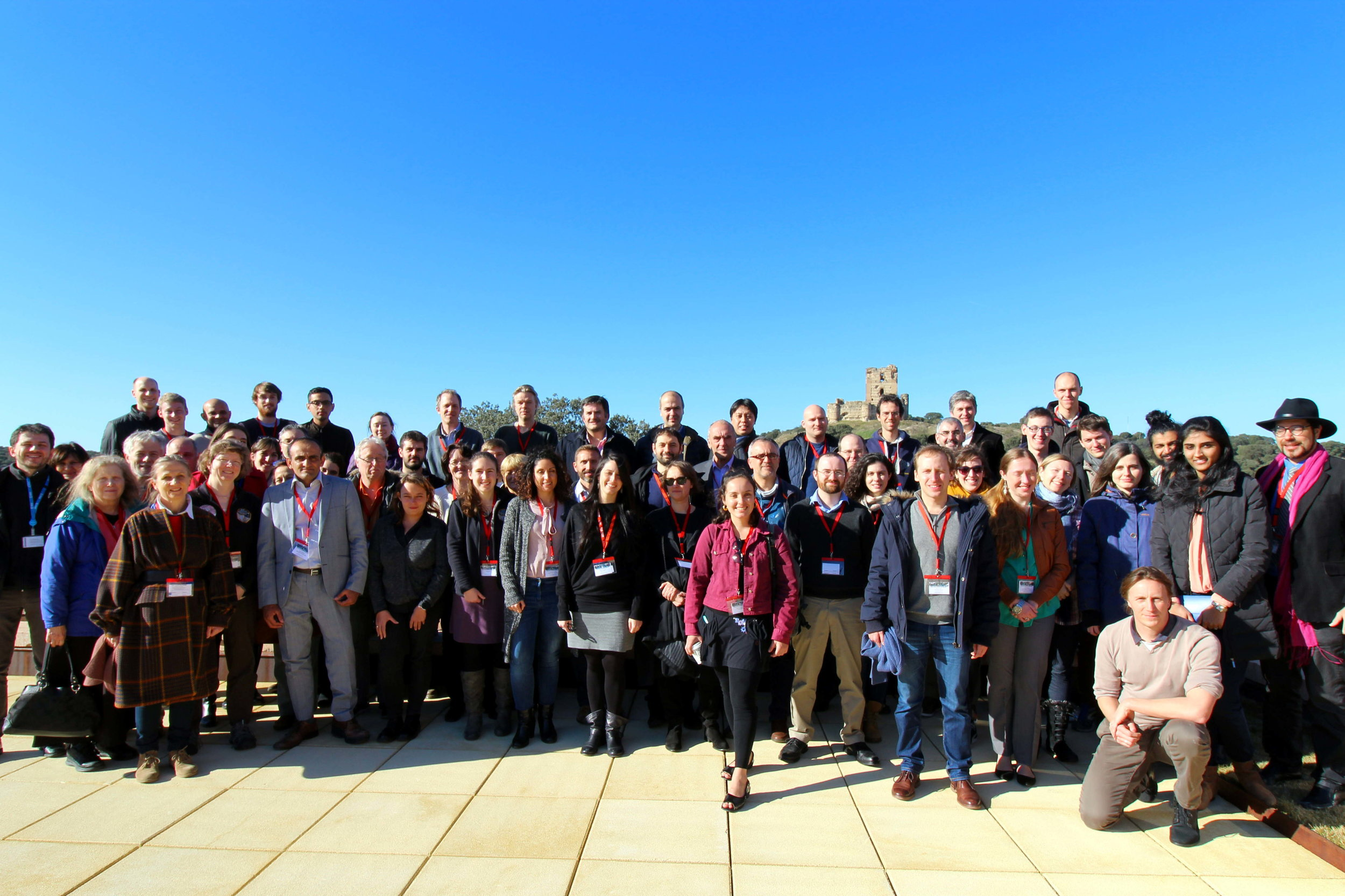 Ices in the Solar System Meeting Group at the ESA-ESAC. There's a 15th century castle in the background!