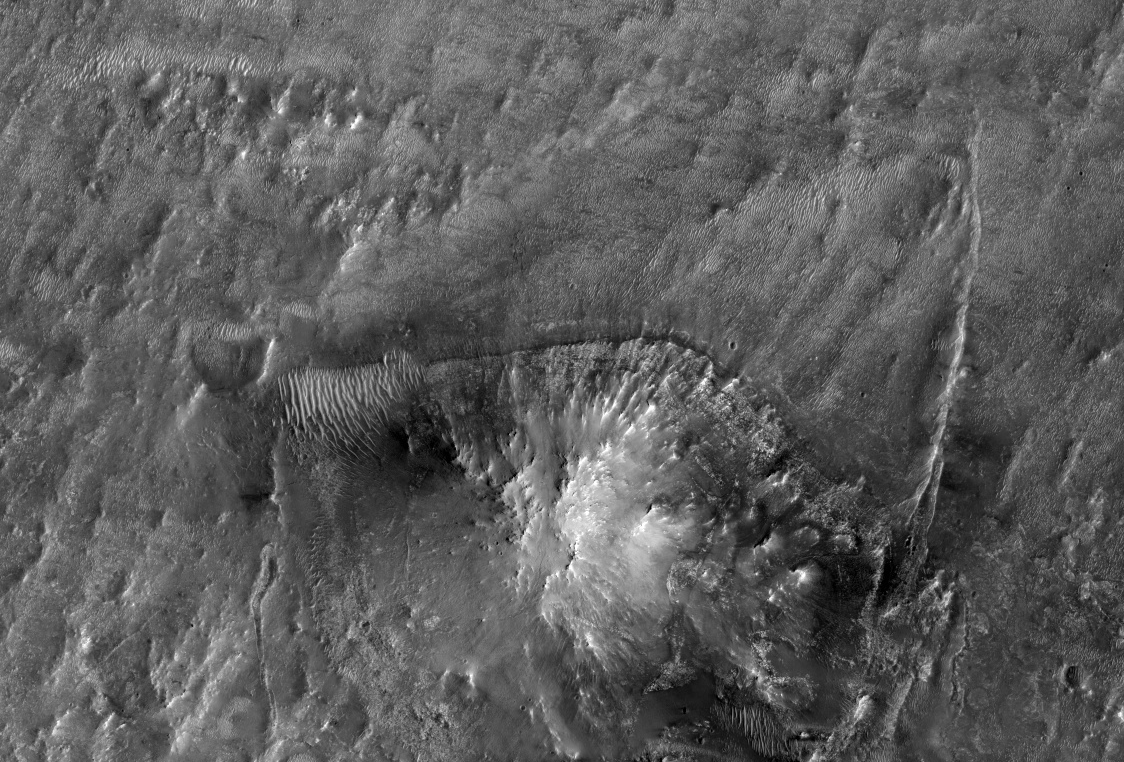 Syrtis region for possible 2020 Mars Rover landing site! Image: ASU-HiRISE.