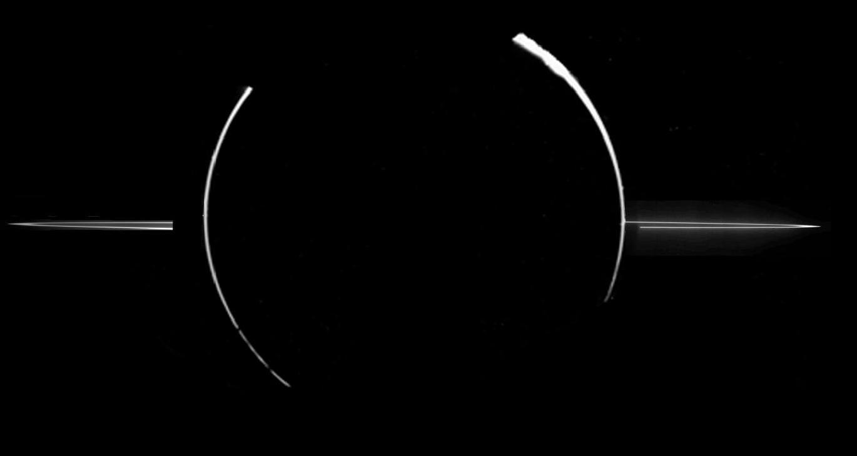 Jupiter's faint rings as imaged by Voyager 1. Image credit: NASA
