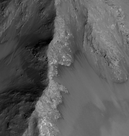 RSL activity in Coprates Chasma. Image credit: HiRISE-ASU.