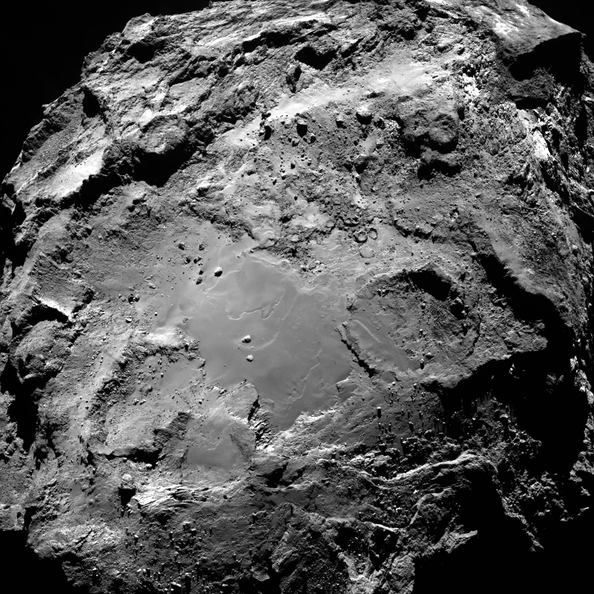 Imhotep region on Comet 67P. Image credit:ESA/Rosetta/MPS for OSIRIS Team MPS/UPD/LAM/IAA/SSO/INTA/UPM/DASP/IDA