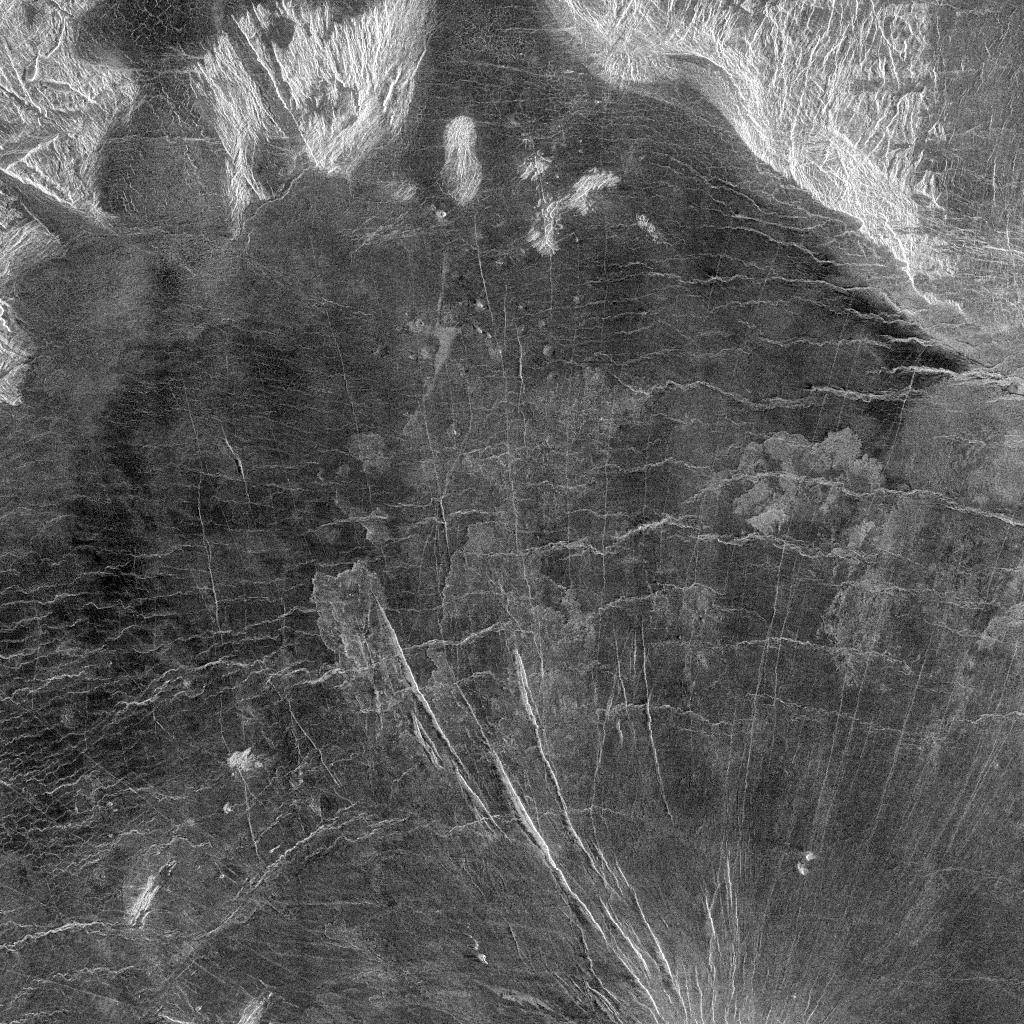 Sample of Venus' surface taken from Magellan. Image credit: NASA/JPL