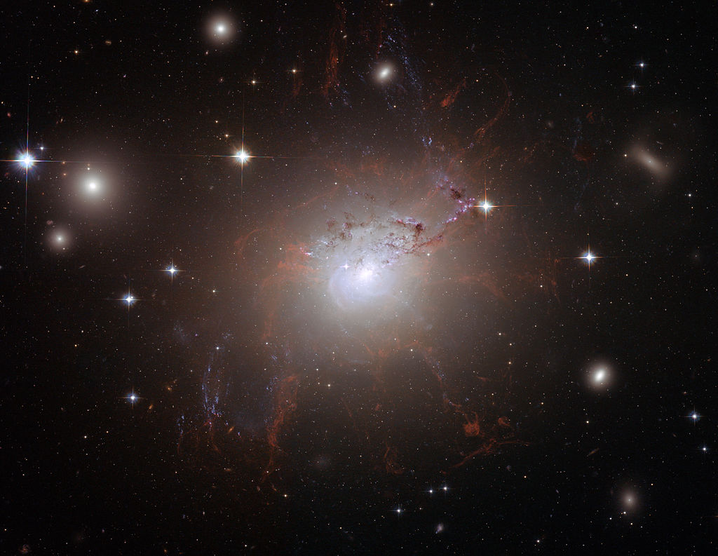 NGC 1275 Type I Seyfert Galaxy. Image credit:NASA, ESA, and the Hubble Heritage (STScI/AURA)-ESA/Hubble Collaboration