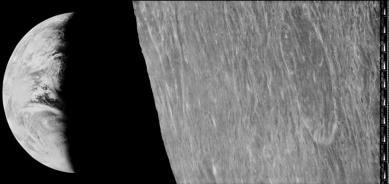 APOD August 27, 2016 image from Lunar Orbiter 1 looking at an Earthrise! Image Credit:  NASA / Lunar Orbiter Image Recovery Project