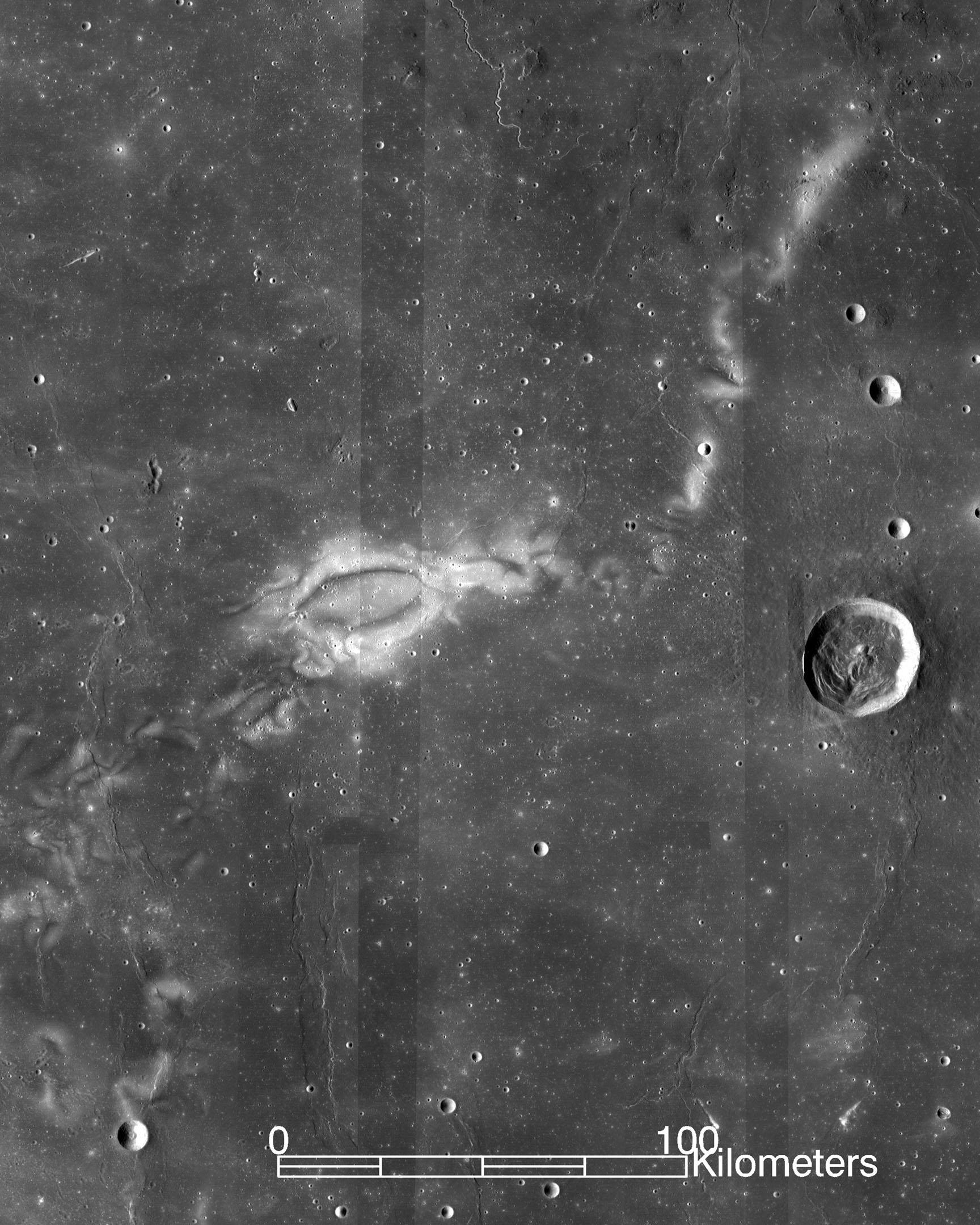 Reiner Gamma lunar swirl. Image credit: NASA/LRO