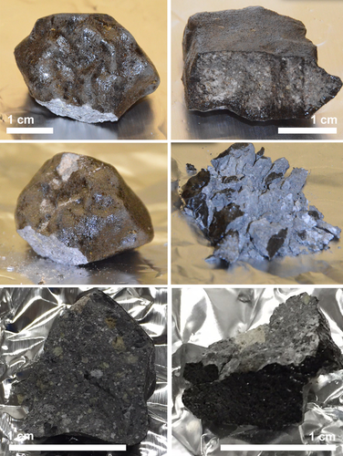 Pictures of the retrieved meteorite sample from Turkey. Figure and full caption can be found in the original published paper. Unsalan, et al. 2019.