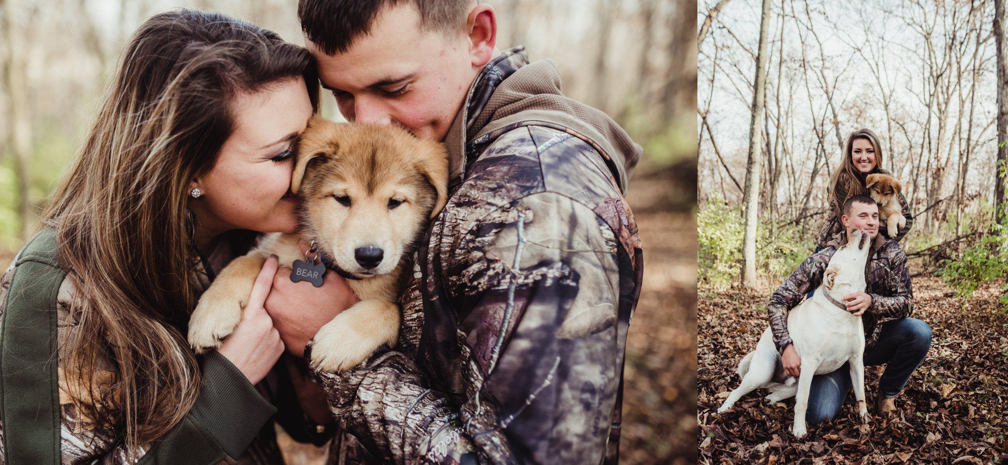 german shepherd puppy engagement photos camo.jpg