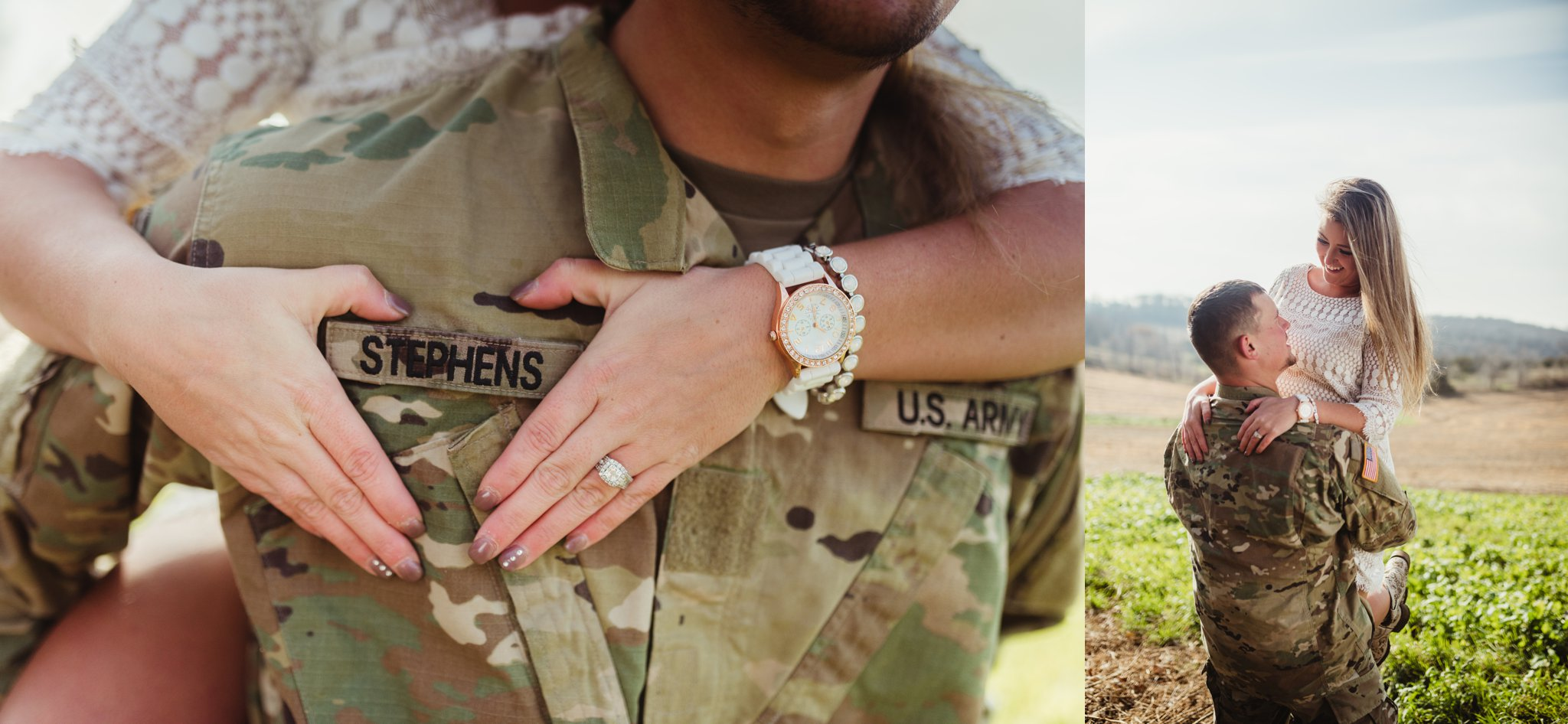 engagement photo military army name tag.jpg