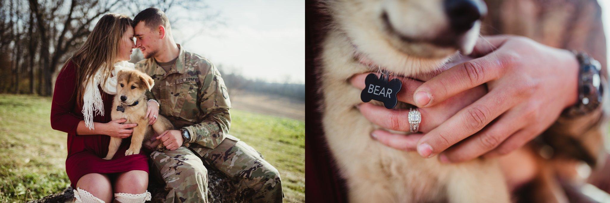 engagement photo military army german shepherd puppy.jpg
