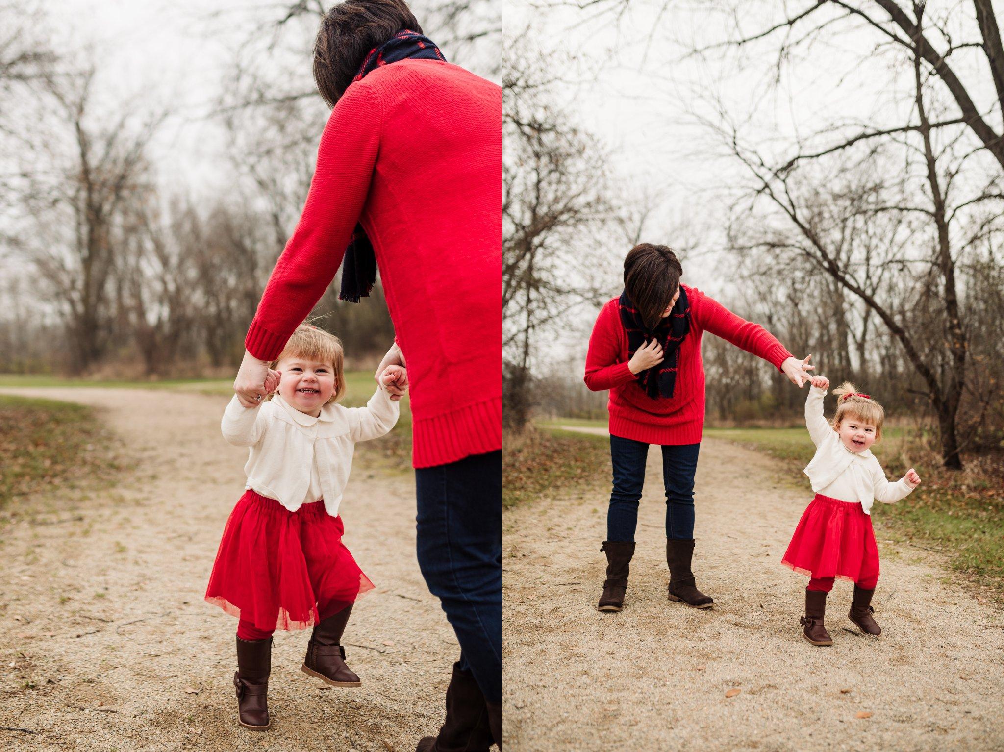 Sun Prairie Photography Burke Park WI Family girl mom dancing.jpg