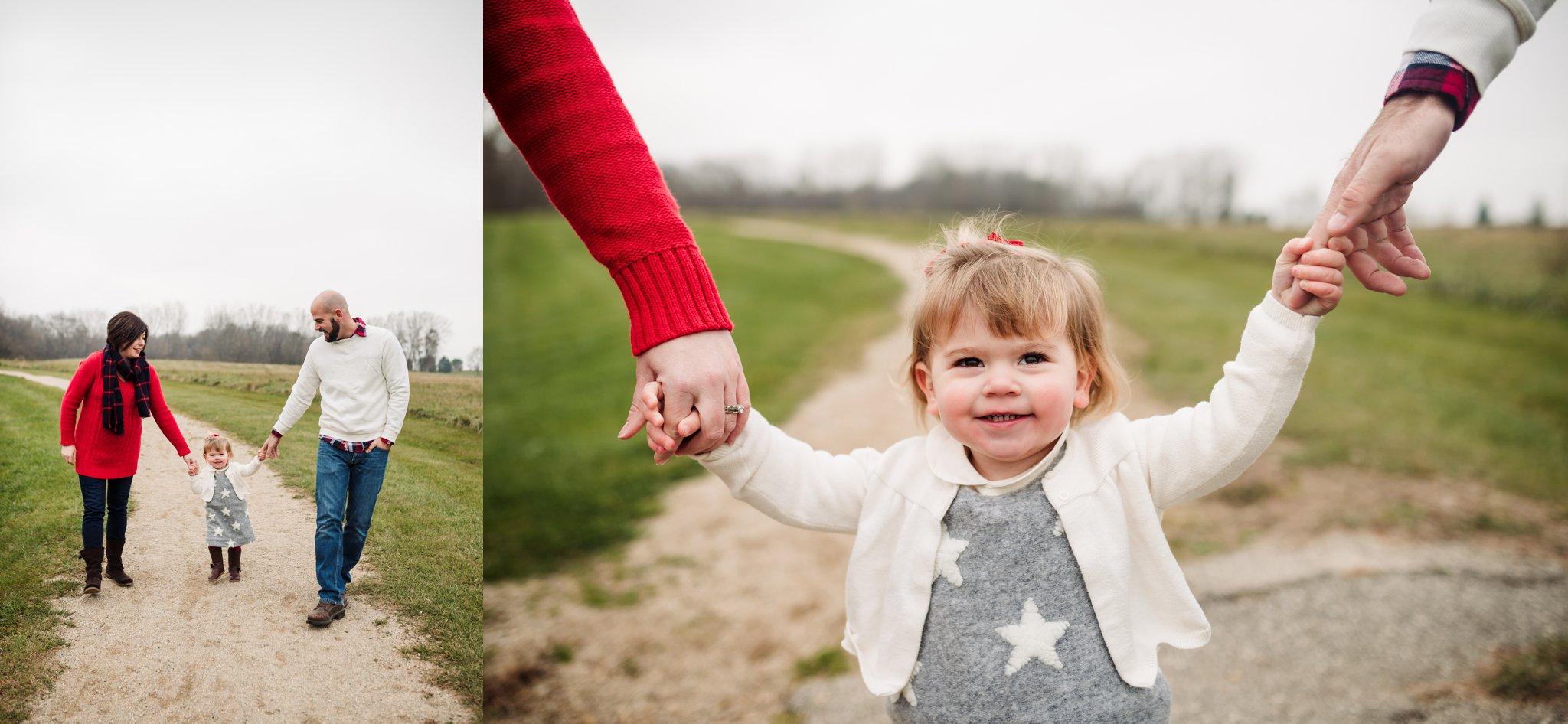 Sun Prairie Photography Burke Park WI Family holding hands walking.jpg