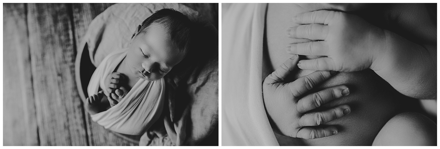 Kayla E. Photography black and white details newborn.jpg