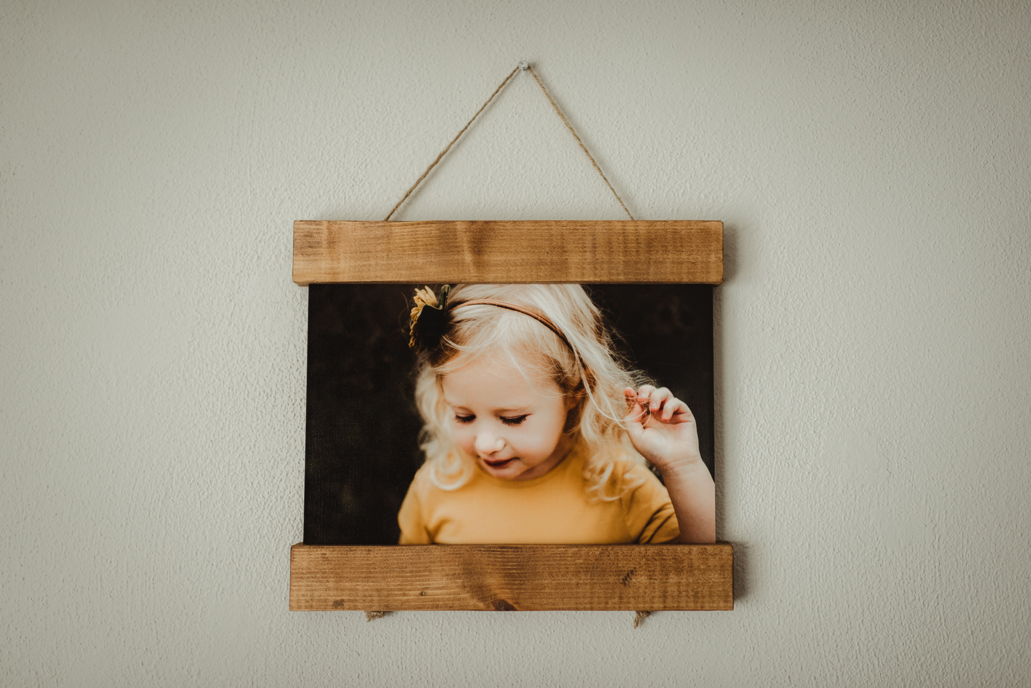 Wood Hanger Frames - Locally made- beautifully hand crafted - wood hanger frames allow for stunning display of your mounted prints.from $28