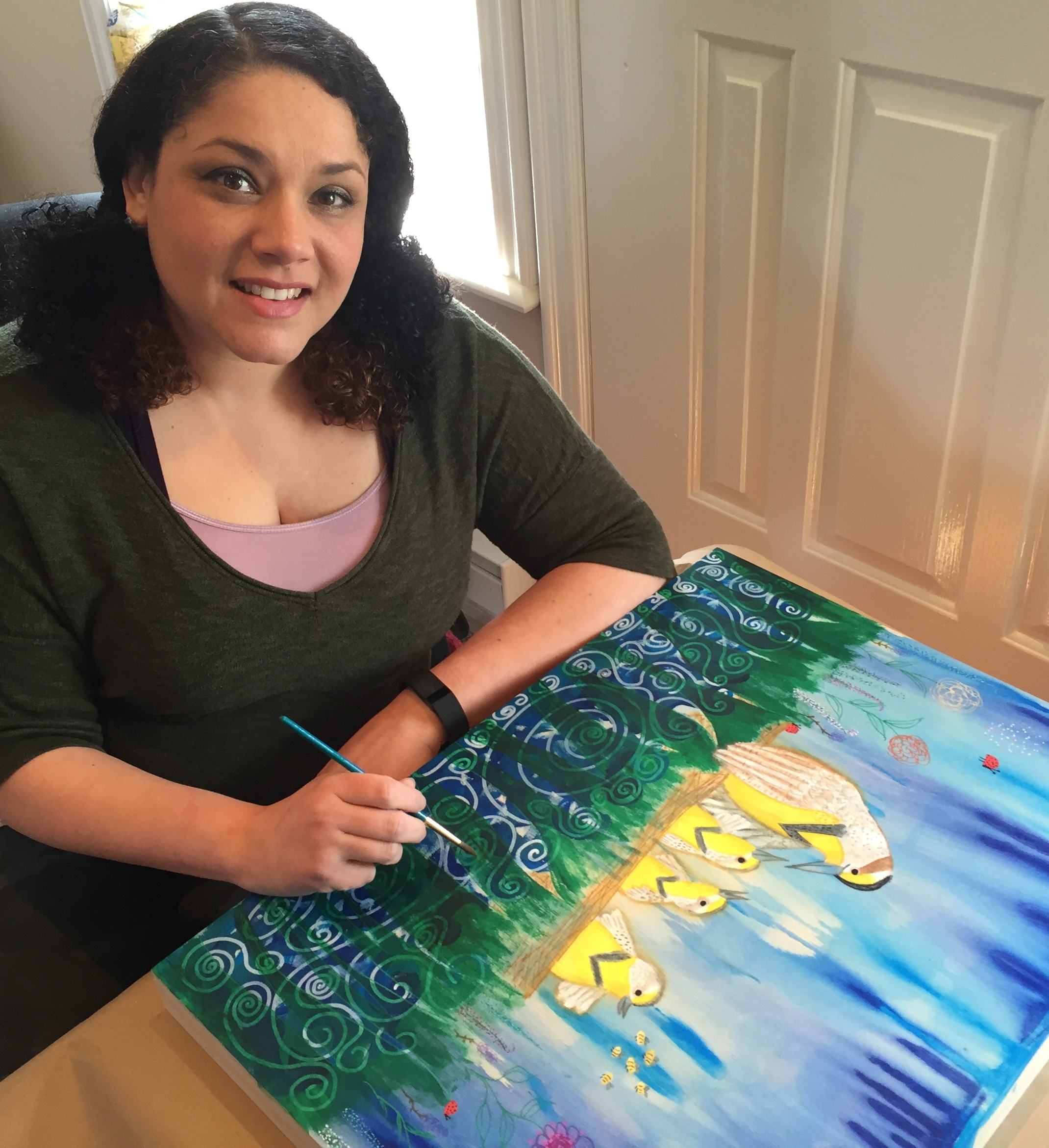 Bethany Handfield painting & Smiling 2.jpg