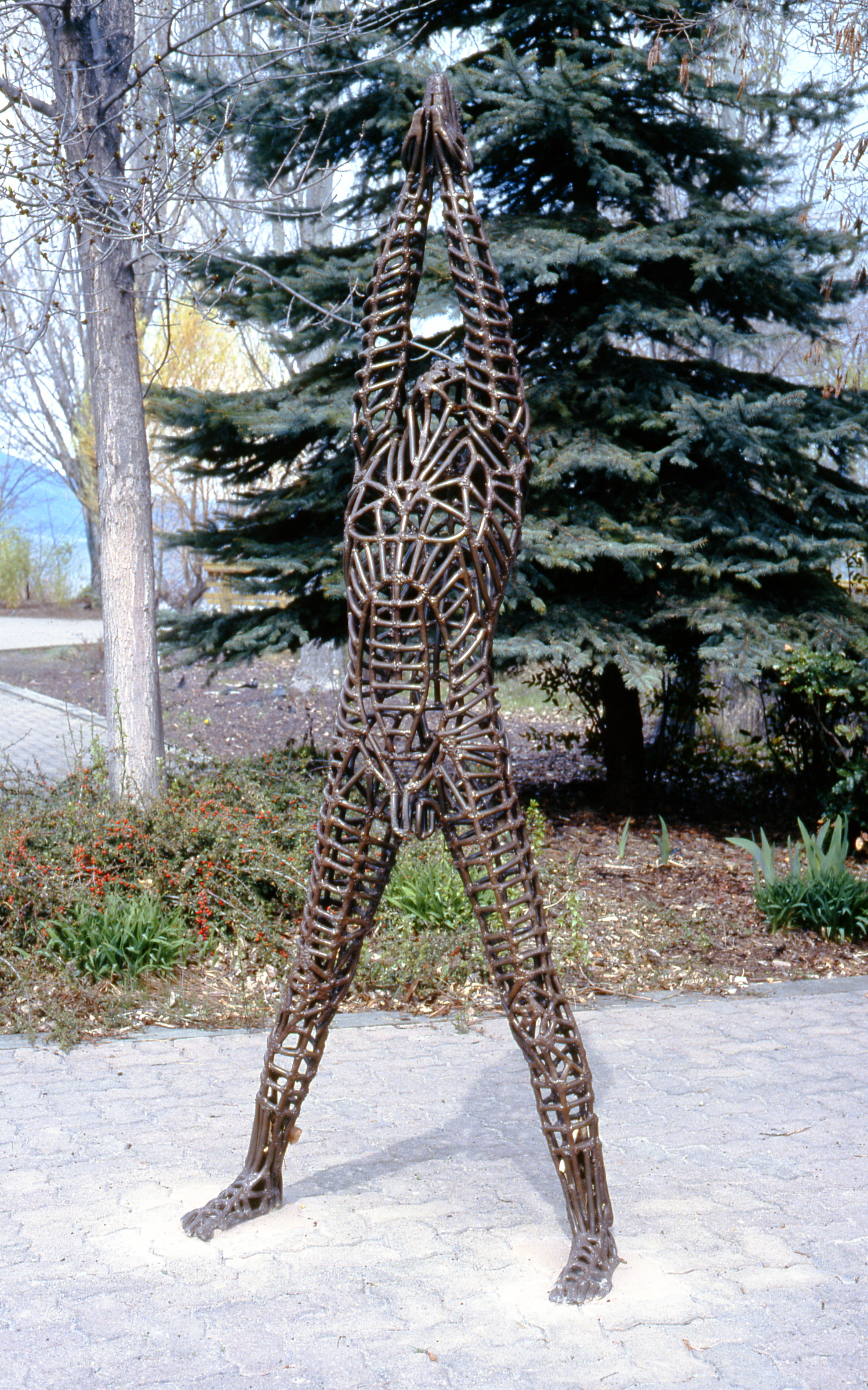 "Breaking Through,  1979, Aleta Shores (n. La France), welded steel, 90"" tall, 2001. 03.01. Gift of Dr. Elliot & Loretta Phillips."