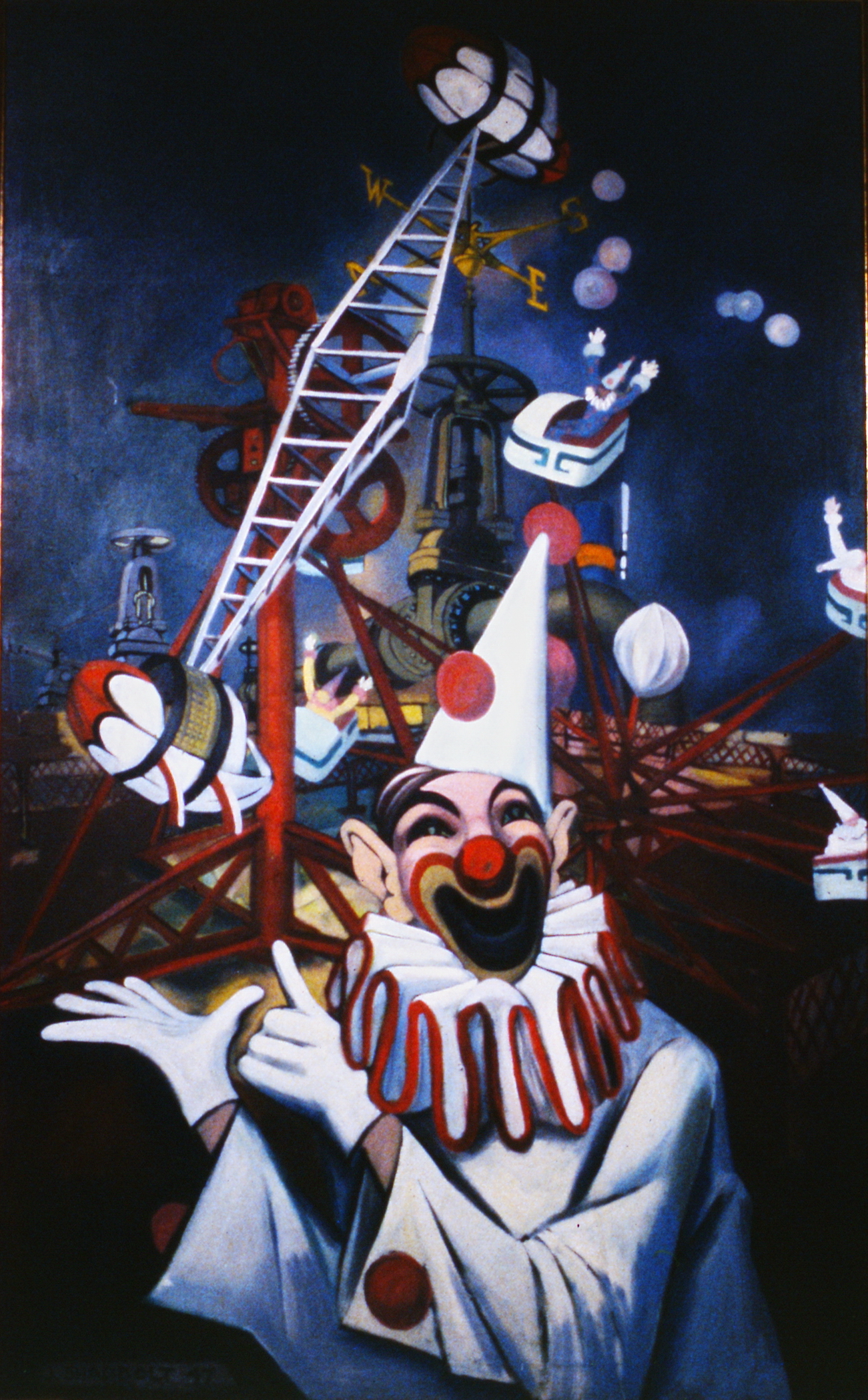 Carnival Time , 1947, Jack Shadbolt, oil painting on canvas, 162.5 cm x 100.5 cm, 1947.01.01, gift of Henry Meyerhoff