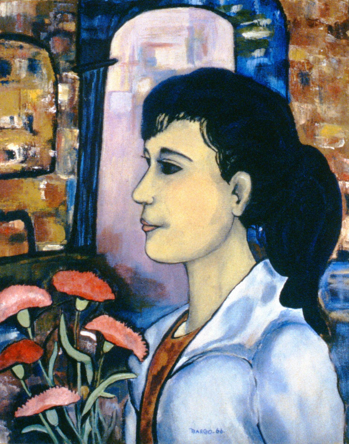 Girl (Zeljko's Daughter) , 1966, Margo Kip , oil on canvas, 40.5 cm x 50.5 cm, 1968.02.01, gift of the Estate of Margo Kip