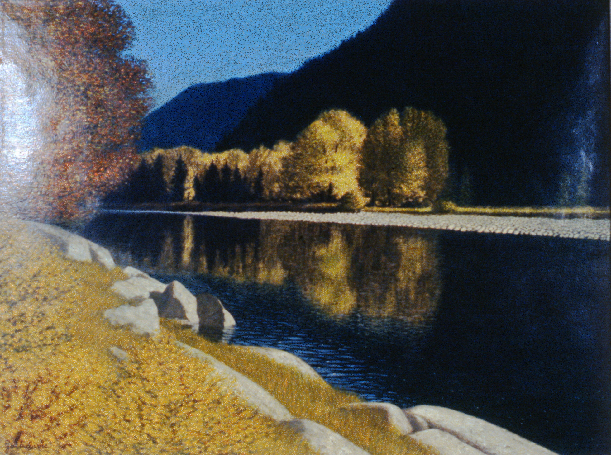 Similkameen , n.d., Jack Davis, acrylic on paper, 44.5 cm x 59.5 cm, 1980.01.02. Gift of the artist.