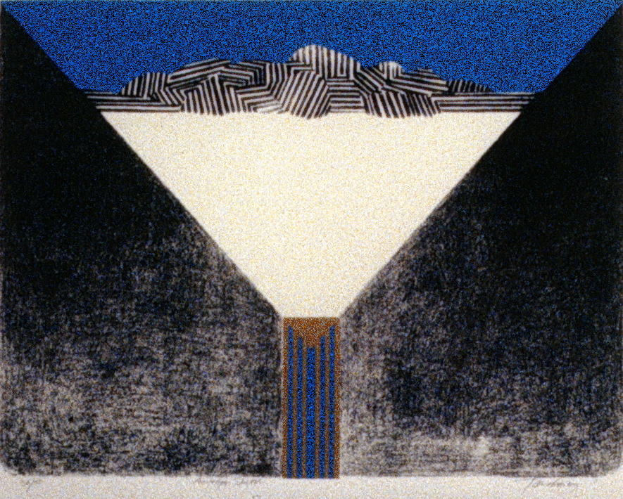 """Envelope Sketch , 1967, Takao Tanabe, serigraph, edition 36/50, 15"""" x 20"""", 1985.03.13. Simon Fraser Centennial Suite Donation. Gift of Jessie Binning."""