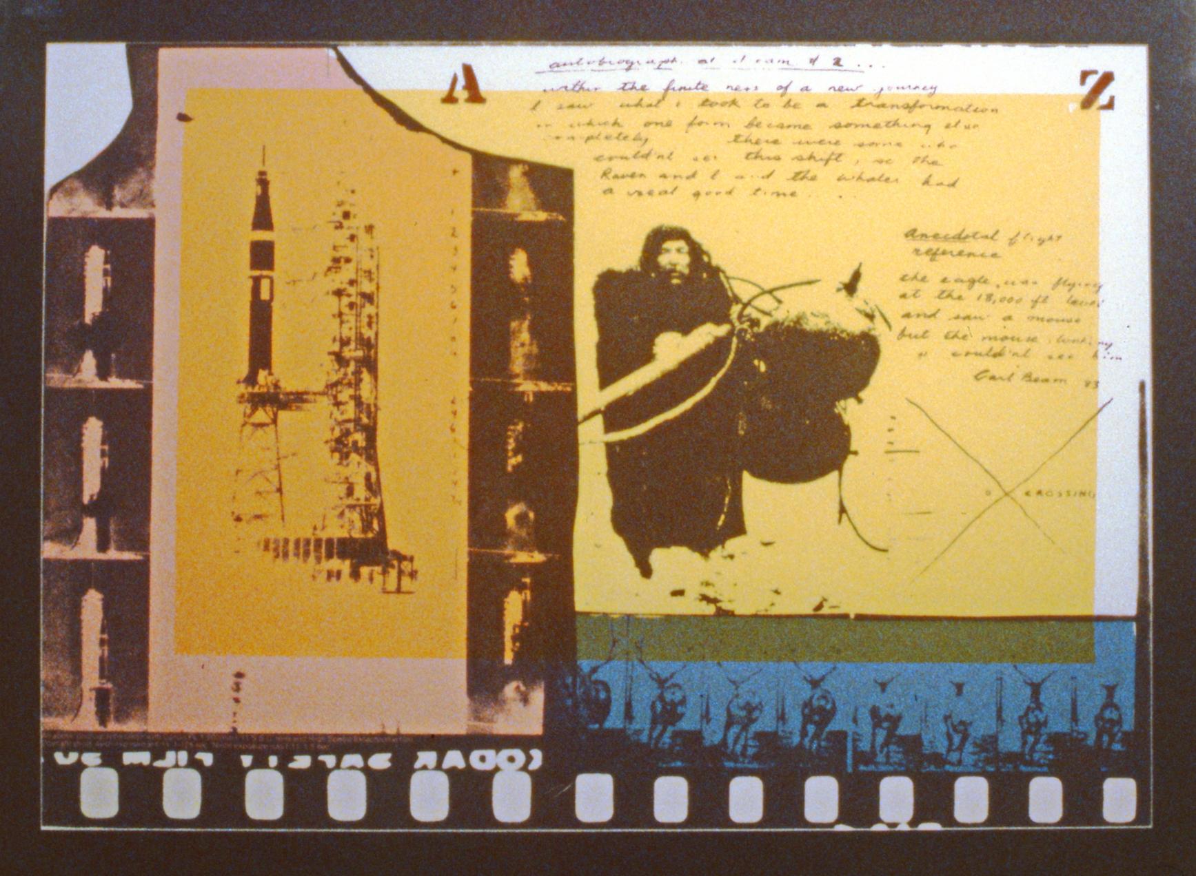 "West Coast Transformation #2 , 1983, Carl Beam, photo silk screen, edition 58/114, 24""x 31 1/2"", 1986.11.01."