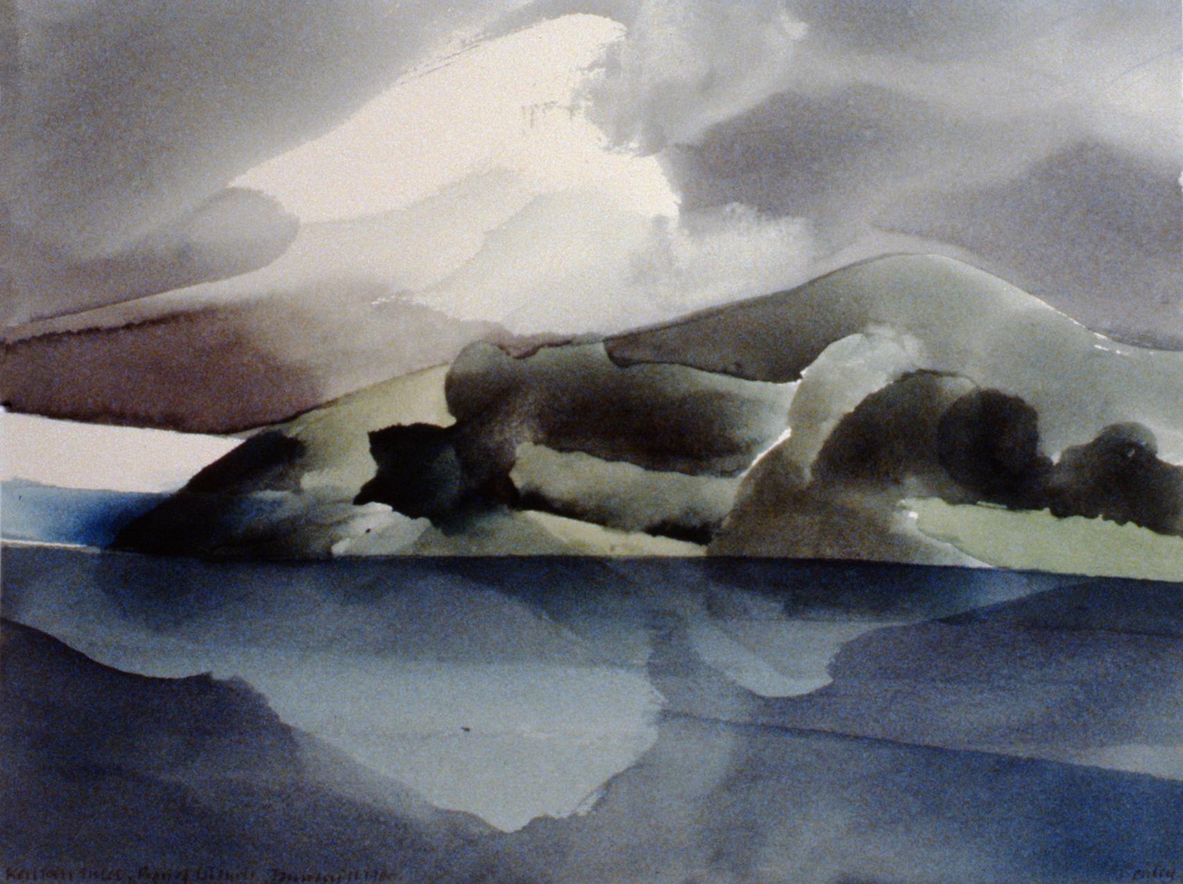 KeriKeri Inlet, New Zealand,  Toni Onley, watercolour on paper, 29.4 x 38.5 cm, 1983.04.01. Gift of Dr. Illington Kerr.