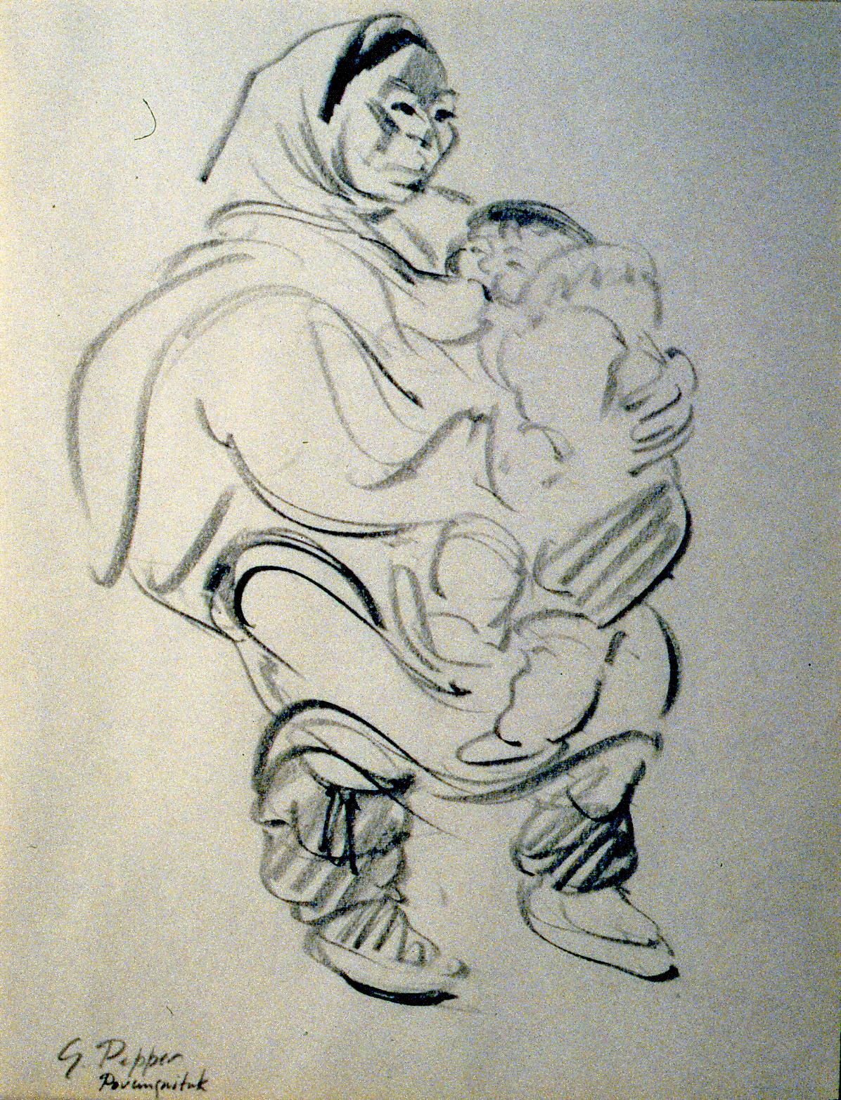 Eskimo Mother & Child, Povungnituk