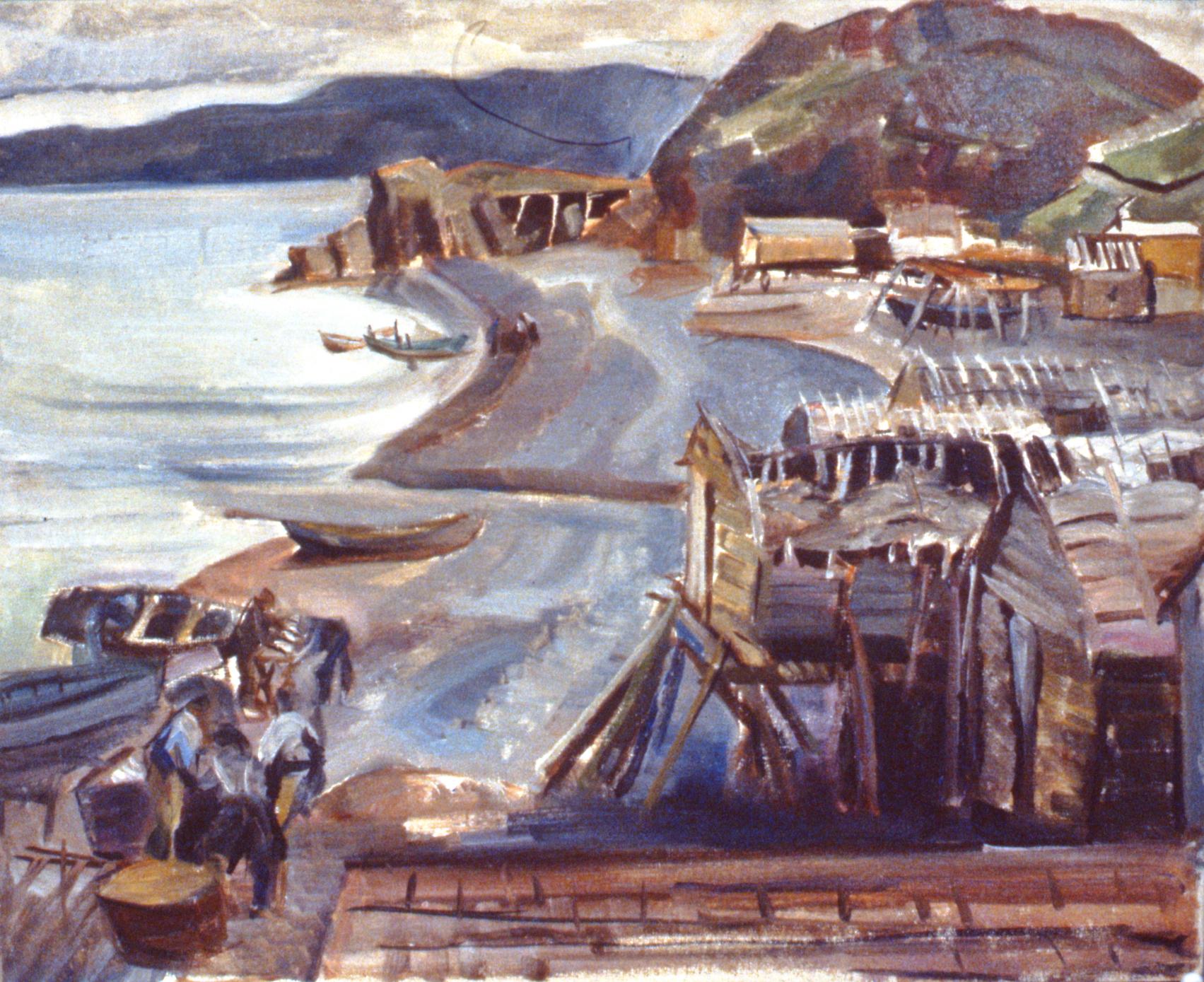 Newfoundland Fishing Village, 1953