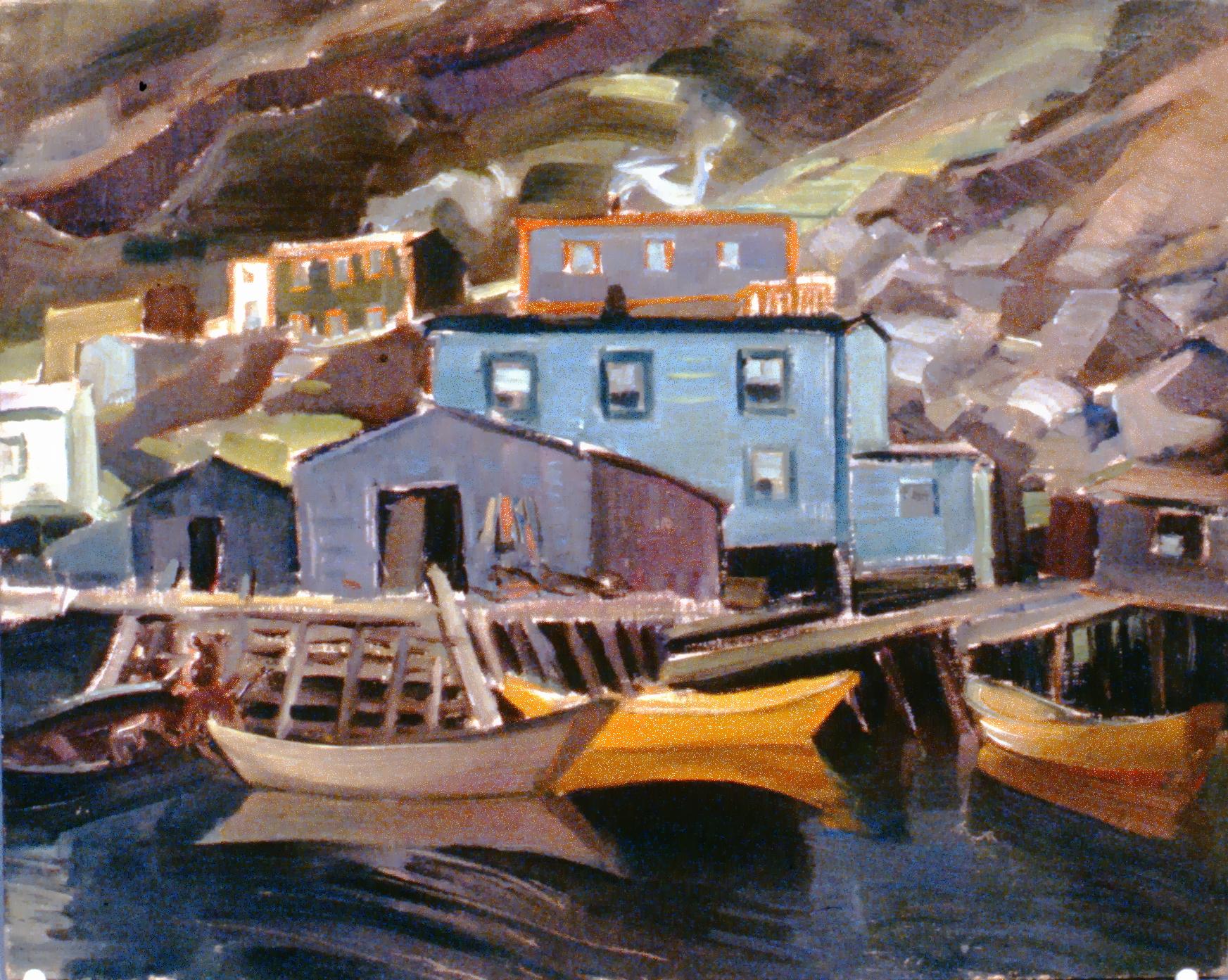 Boats, Francois, Newfoundland, 1953