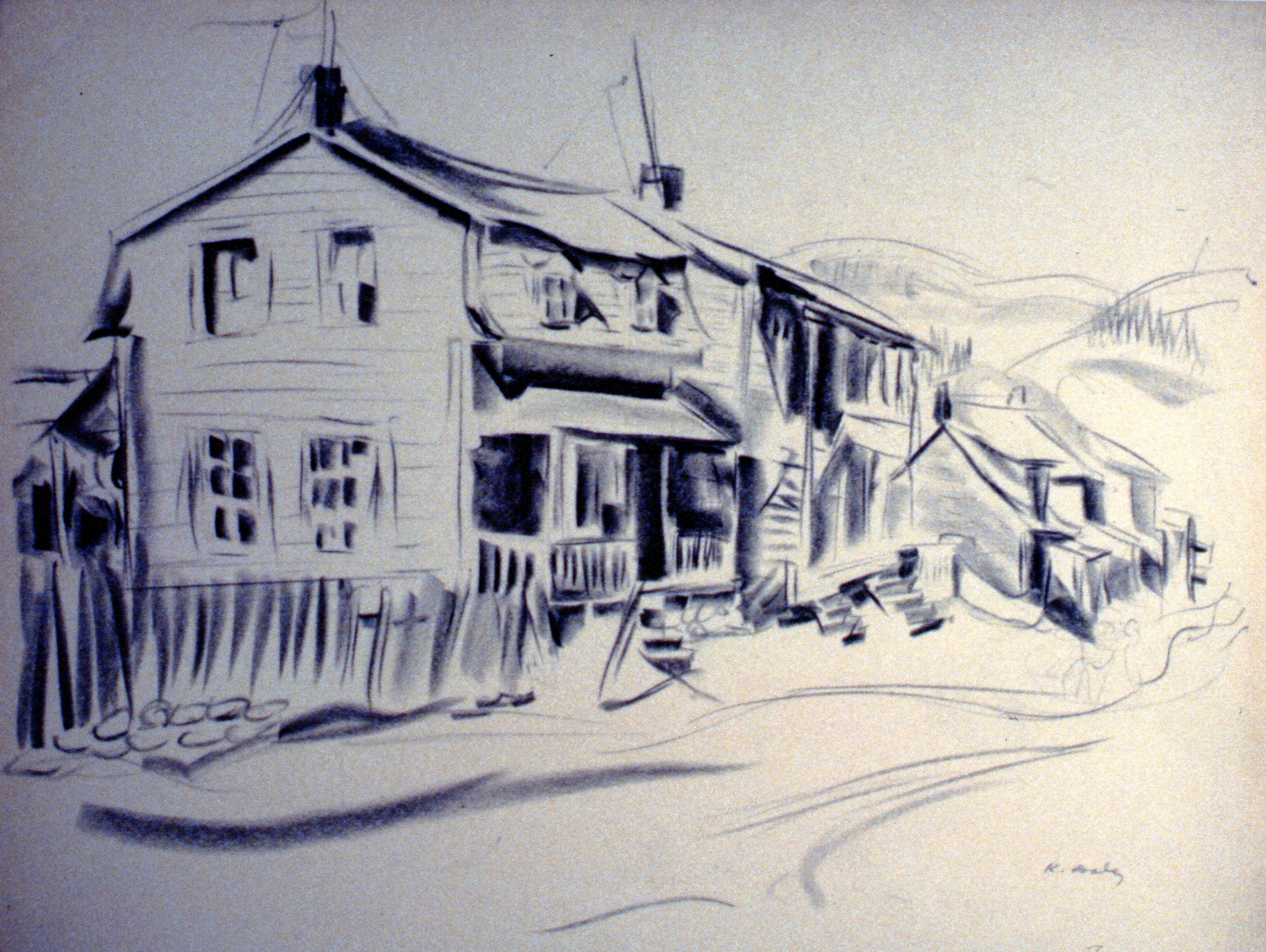 Untitled (Quebec Houses), nd.