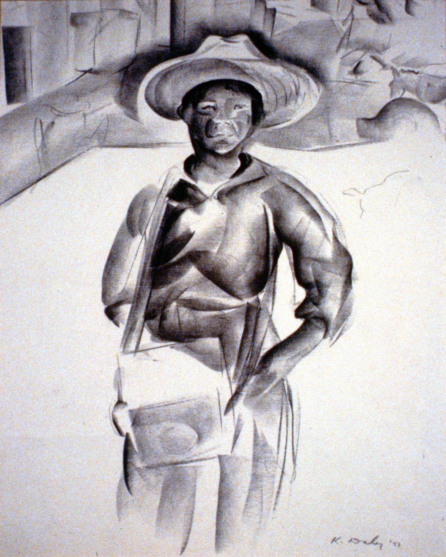 Young Street Vendor, Mexico, 1953