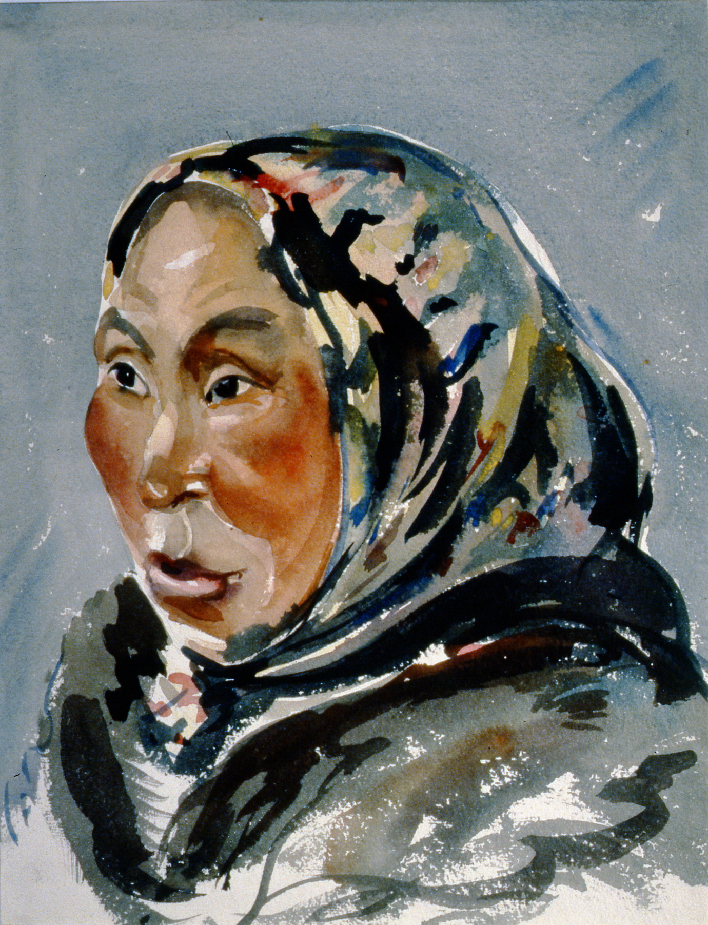 Untitled (Inuit Woman, Scarf), nd.