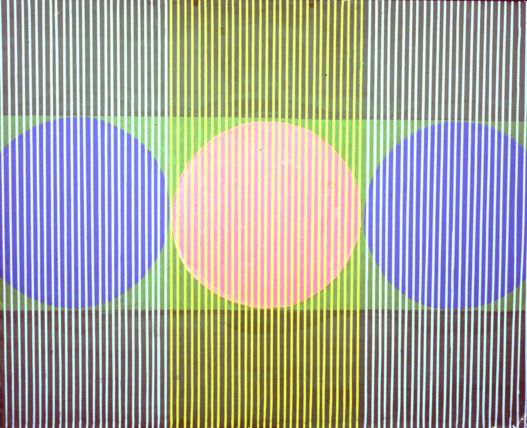 Untitled , 1962, Richard Touman, oil on board, 1996.07.01